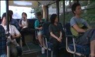 バス出勤も社内でも全裸で働く痴女OL