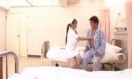 爆乳ナース・Hitomiが患者の精子を搾り取る激ピスハメ!