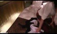 「ぁ!もういっぱいぃ〜」神レベルの爆乳JKとハメ撮り→ガッツリ顔射受け止め!